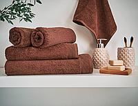 Полотенце махровое Cocoa, без рисунка, коричневый