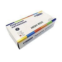 Перчатки Хайриск латексные повышенной прочности неопудренные (хозяйственные) р-р L, 50 шт
