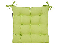 Подушка на стул Leaf green, без рисунка, зеленый