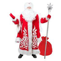 Карнавальный костюм 'Дед Мороз королевский', аппликация, мех, р. 52-54