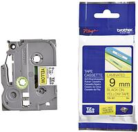 Лента TZe-621, черным на желтом , для принтеров Brother PT-1010, PT-1280VP, PT-D200VP, PT-E100VP и пр.