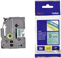 Лента TZe-721, черным на зеленом , для принтеров Brother PT-1010,  PT-1280VP, PT-D200VP, PT-E100VP и пр.