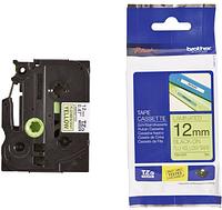 Лента TZe-C31, черным на желтом (флуоресцентная), для принтеров Brother PT-1010,  PT-1280VP и пр.