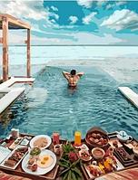 """Картина по номерам """"Утро на Мальдивах"""", 40х50 см"""