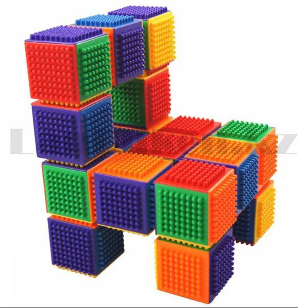 Конструктор развивающий игольчатый Умные кубики Blocks Intelligence Fun&Learn 9932B 40 деталей - фото 2