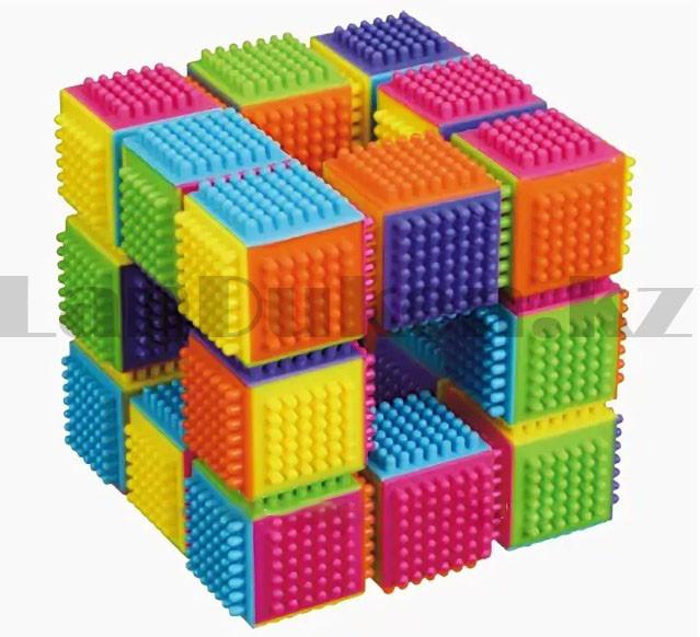 Конструктор развивающий игольчатый Умные кубики Blocks Intelligence Fun&Learn 9932B 40 деталей - фото 3