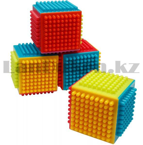 Конструктор развивающий игольчатый Умные кубики Blocks Intelligence Fun&Learn 9932B 40 деталей - фото 4