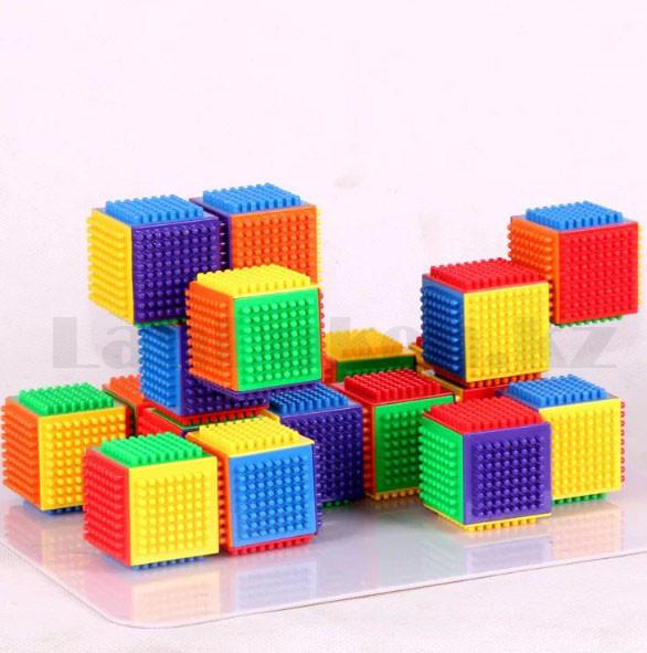 Конструктор развивающий игольчатый Умные кубики Blocks Intelligence Fun&Learn 9932B 40 деталей - фото 5