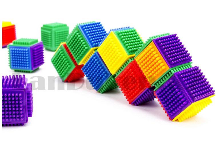Конструктор развивающий игольчатый Умные кубики Blocks Intelligence Fun&Learn 9932B 40 деталей - фото 6