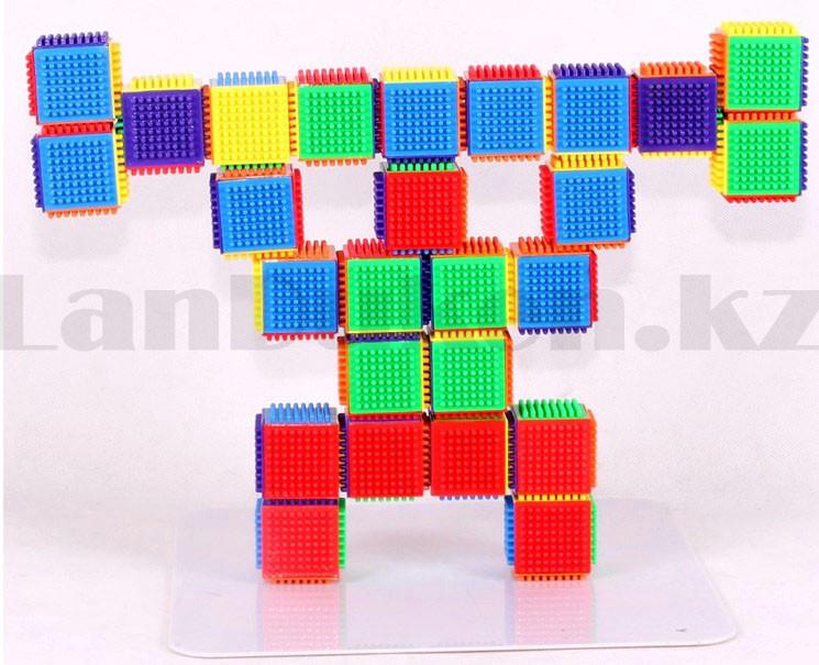 Конструктор развивающий игольчатый Умные кубики Blocks Intelligence Fun&Learn 9932B 40 деталей - фото 7