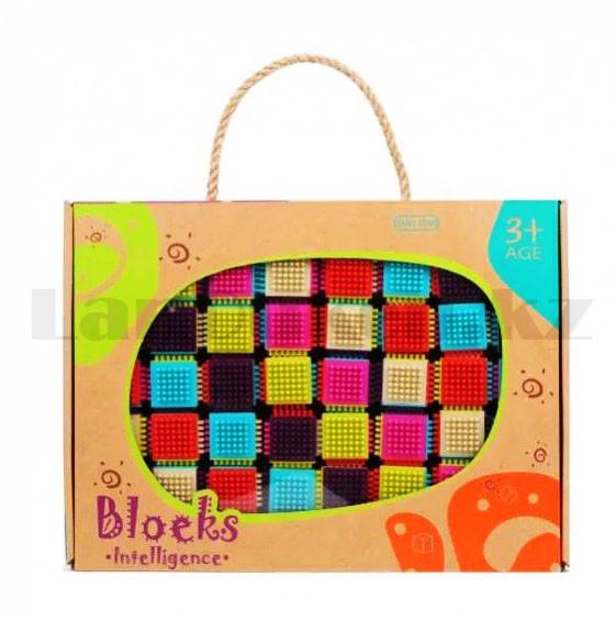 Конструктор развивающий игольчатый Умные кубики Blocks Intelligence Fun&Learn 9932B 40 деталей - фото 10