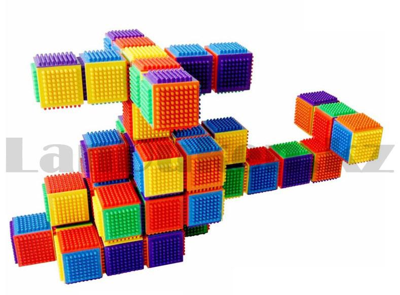 Конструктор развивающий игольчатый Умные кубики Blocks Intelligence Fun&Learn 9932B 40 деталей - фото 8