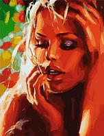 """Картина по номерам """"Чувственная девушка"""", 40х50 см"""