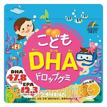 Жевательные витамины для детей DHA (Омега-3), Unimat Riken со вкусом апельсина. 90 шт
