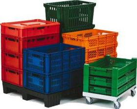 Пластиковые ящики для продуктов и птицефабрик