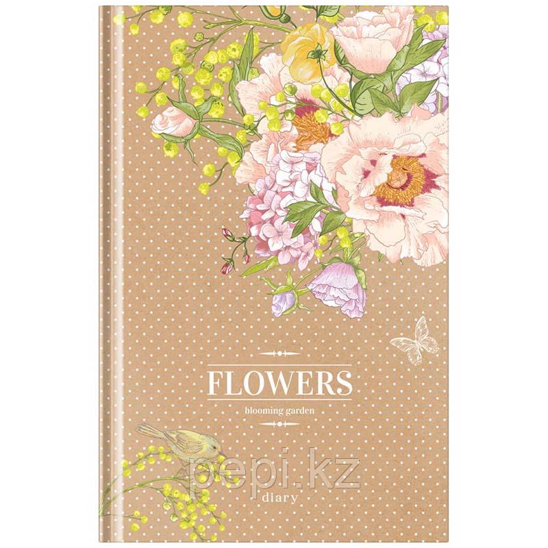 """Ежедневник недатированный """"""""Цветы. Craft flowers"""""""" А5 136л. линия"""