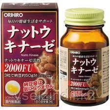 Наттокиназа ORIHIRO, 60 капсул 20 дней, имемия, гипертония, диабет, холестерин в крови, мышечная усталость