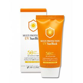 3W Clinic Универсальный солнцезащитный крем SPF 50+ PA+++ Multi Protection UV Sun Block (70 мл)