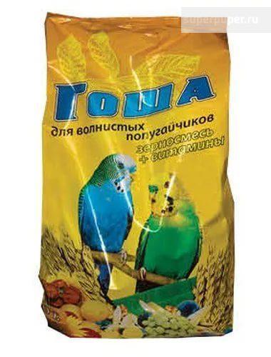 Корм для волнистых попугаев ГОША 500гр Витамины