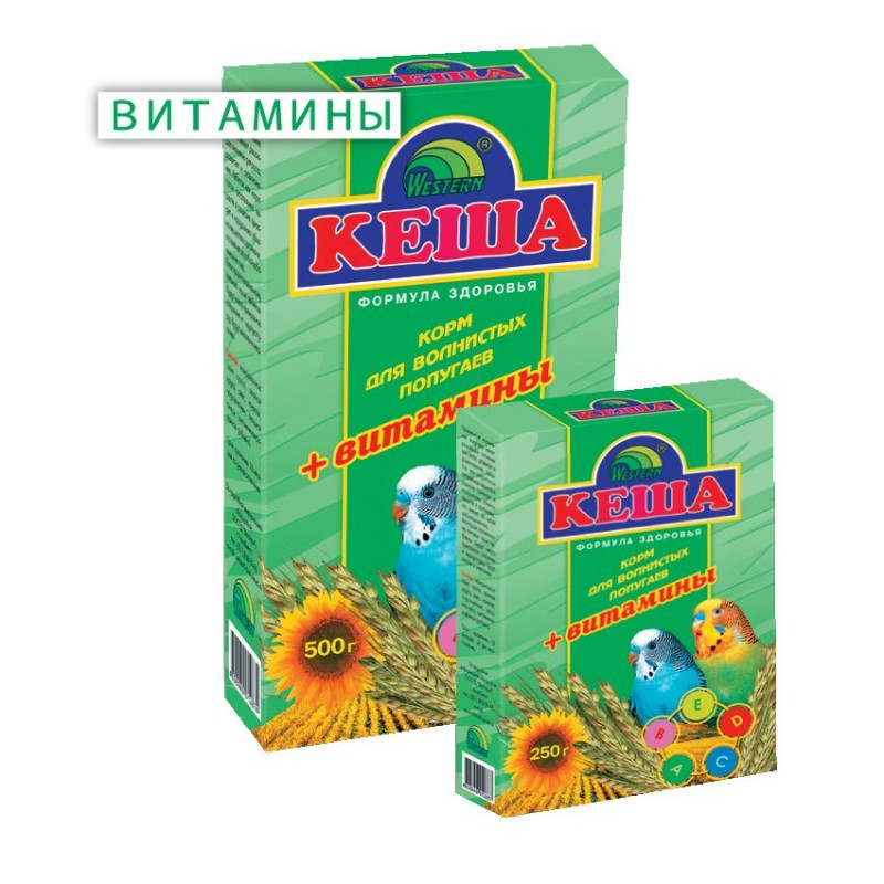 Корм для попугаев КЕША 500гр  Витамины