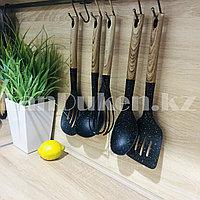 Набор кухонных аксессуаров 5 предметов с дизайном под дерево