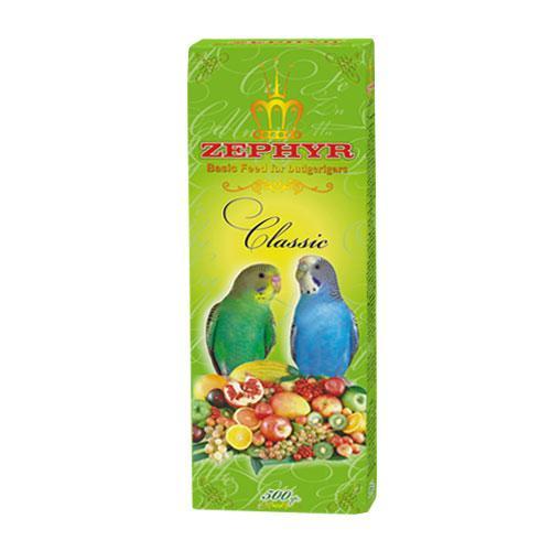 Корм для волнистых попугаев Зефир Классик 500гр Элитная серия