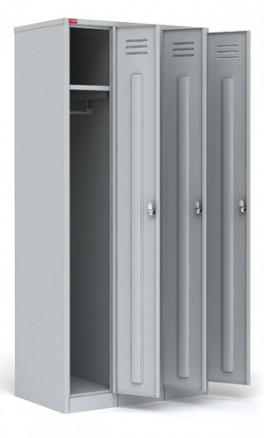 ШРМ - 33 Трехсекционный металлический шкаф для одежды