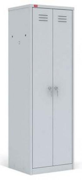 ШРМ - С Двухсекционный металлический шкаф для одежды