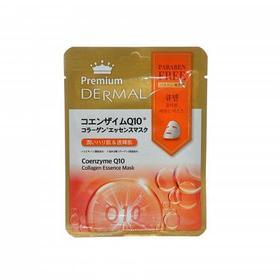 Маска эссенция для лица тканевая Dermal Premium коллагеновая с Коэнзимом Q10