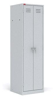 ШРМ - 22/800 Двухсекционный металлический шкаф для одежды