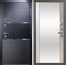 Входная металлическая дверь АнтаресЧерный муар с зеркалом