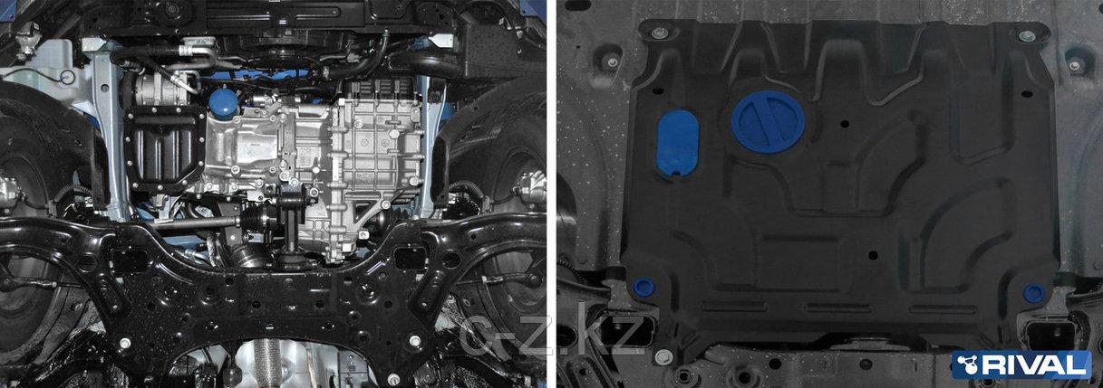 Стальная защита картера и КПП Hyundai Accent 2015-н.в., фото 2