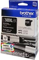 Картридж LC569XLBK для Brother MFC-J3520 Черный