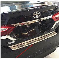 Хром накладка на задний бампер CAMRY V50/55 2011-14