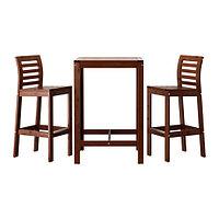 Стол, барный и 2 барных стула, коричневый ЭПЛАРО, ИКЕА, IKEA , фото 1