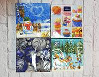 Товары для праздника brand 52937 Салфетки Новогодние (20шт) (Девочка и снеговик)