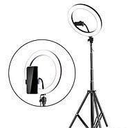 Кольцевая лампа 33 см AL-33 Ring Supplementary Lamp с держателем, штативом и пультом ДУ