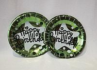 Товары для праздника brand 53634 Тарелки Happy Birthday Хром (Малиновый)