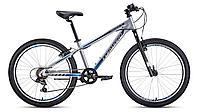 "Велосипед FORWARD TWISTER 24 1.0 алюм. (24"" 7ск) серый / черный /, RBKW01647009, фото 1"