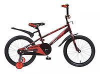 """Велосипед NOVATRACK 16"""", EXTREME, коричневый, полная защита цепи,  тормоз нож, короткие крылья, фото 1"""