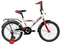 "Велосипед NOVATRACK 18"" ASTRA белый, тормоз нож, крылья, багажник, защита А-тип"