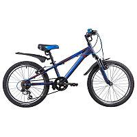 "Велосипед NOVATRACK 20"", LUMEN, синий, алюм., 6-скор, TY21/TS38/SG-6SI, V-brake, фото 1"