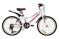 "Велосипед NOVATRACK 20"", ALICE, белый, сталь, 6-скор, TY21/TS38/SG-6SI, V-brake, фото 1"