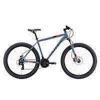 """Велосипед Stark'20 Hunter 27.2+ HD серый/черный/оранжевый 20"""", фото 1"""