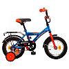"""Велосипед NOVATRACK 12"""" ASTRA синий, тормоз нож, крылья и багажник чёрн, полная защита цепи"""