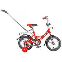 """Велосипед NOVATRACK 12"""", URBAN, красный, полная защита цепи, тормоз нож., крылья и баг хром, упр.руч, фото 1"""