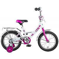 """Велосипед NOVATRACK 14"""", URBAN, белый, полная защита цепи, тормоз нож., крылья и багажник хром, фото 1"""