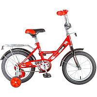 """Велосипед NOVATRACK 14"""", URBAN, красный, полная защита цепи, тормоз нож., крылья и багажник хром, фото 1"""