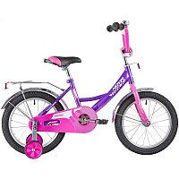 """Велосипед NOVATRACK 14"""" VECTOR лиловый, тормоз нож., крылья и багажник хром., полная защита цепи, фото 1"""