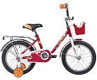 """Велосипед NOVATRACK 16"""" MAPLE, красный, полная защита цепи, тормоз нож.,крылья и багажник хром, фото 1"""